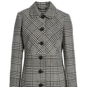 NWT Karl Lagerfeld Paris Tweed Topper Coat (10)